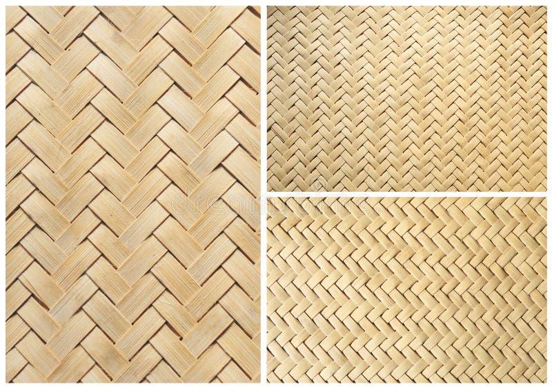 Colección de cesta de bambú de la textura para el fondo foto de archivo libre de regalías