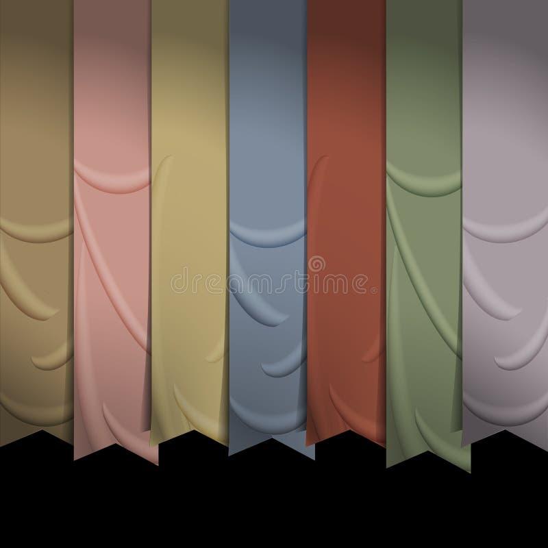 Colección de cintas verticales para el diseño ilustración del vector