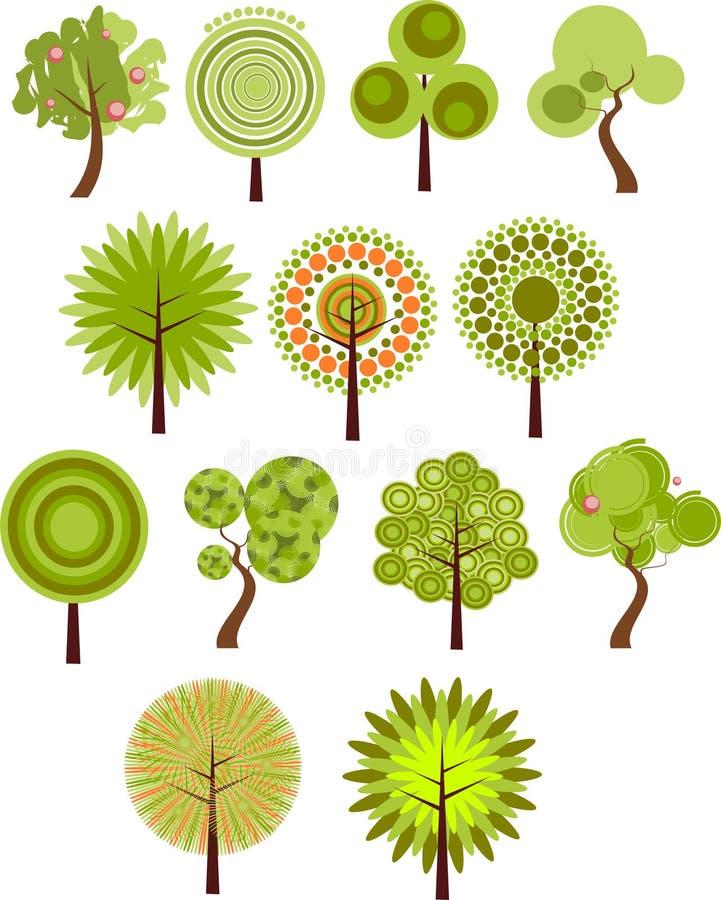 Colección de clip-arte del árbol imagen de archivo libre de regalías