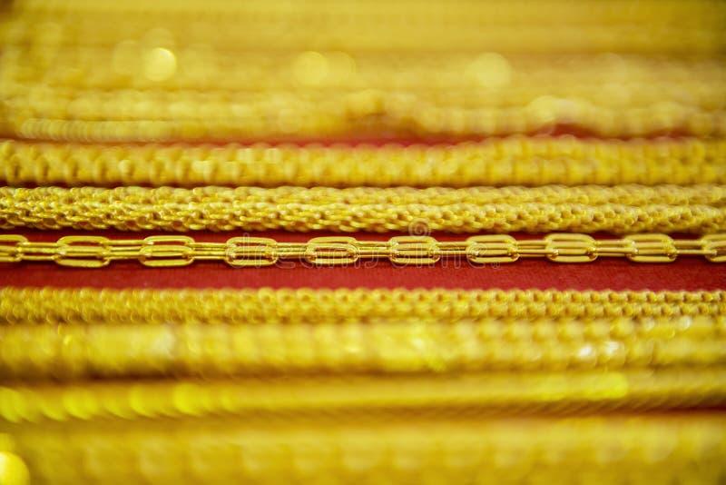 Colección de collar de oro fotografía de archivo libre de regalías