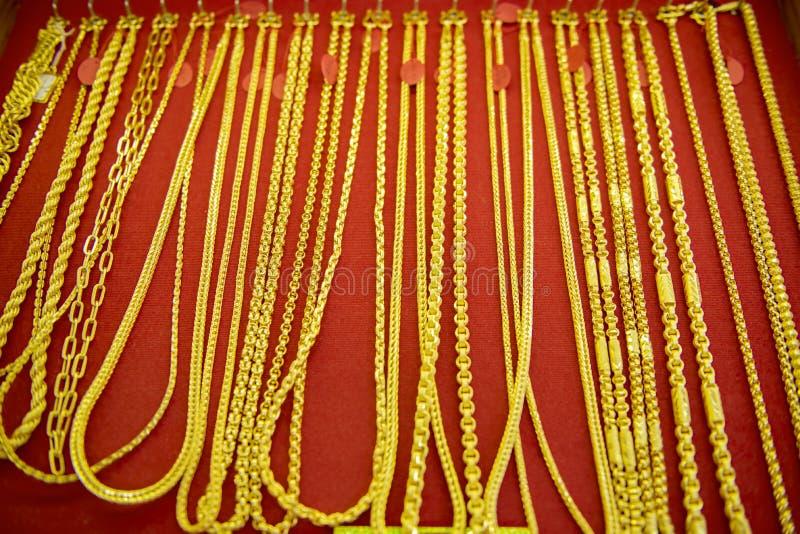 Colección de collar de oro imagen de archivo
