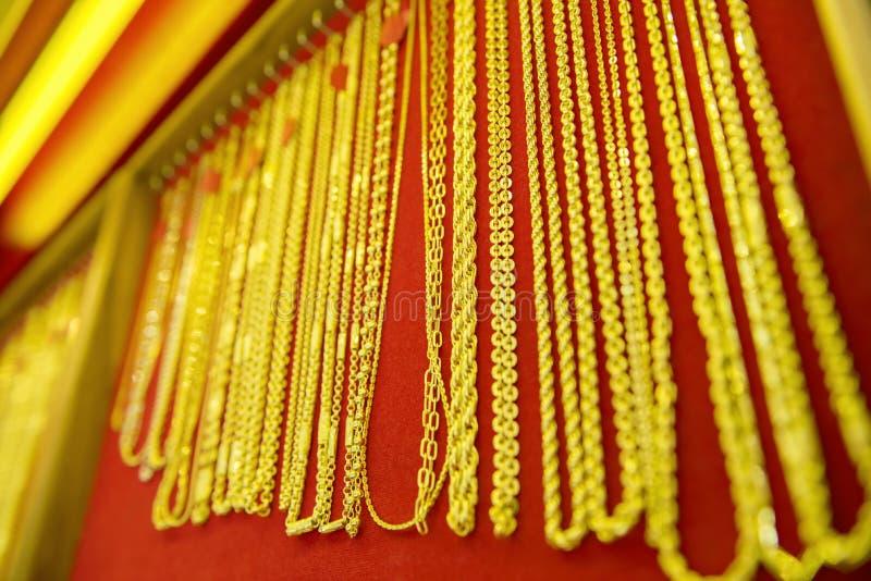 Colección de collar de oro imagen de archivo libre de regalías