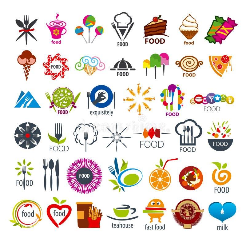 Colección de comida de los logotipos del vector ilustración del vector