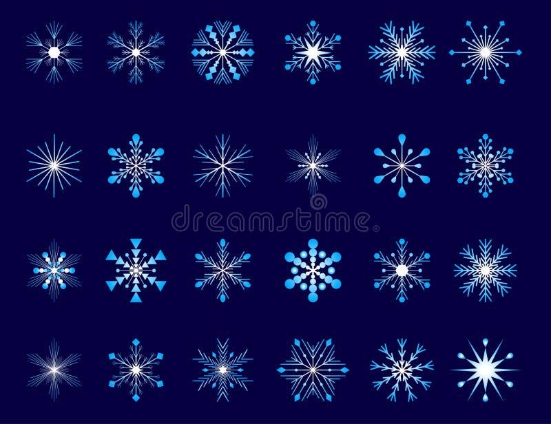 Colección de copos de nieve stock de ilustración