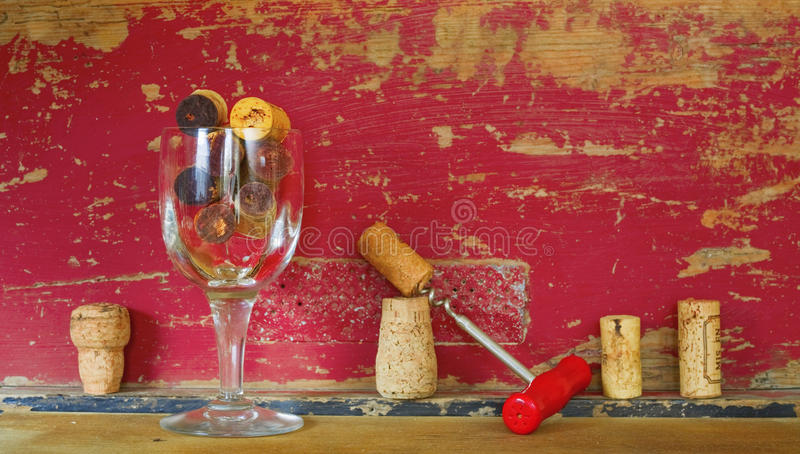 Colección de corchos del vino foto de archivo