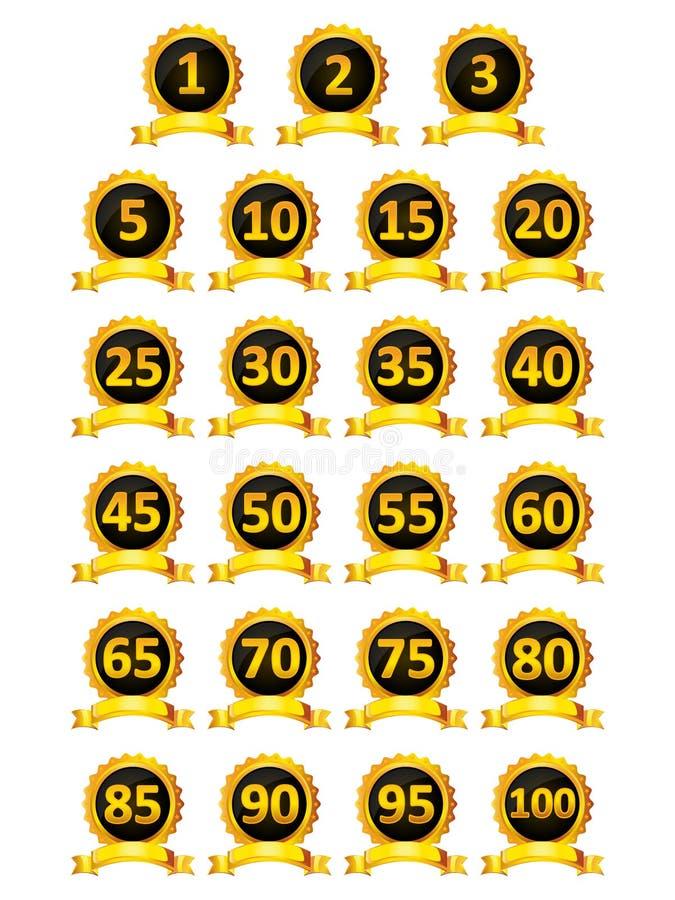 Colección de diseño elegante de la insignia ilustración del vector