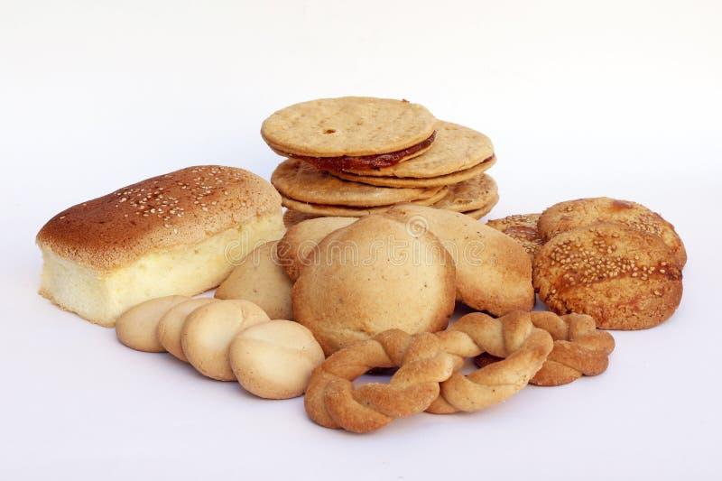 Colección de diversos tipos de pan hecho en casa de Perú imágenes de archivo libres de regalías