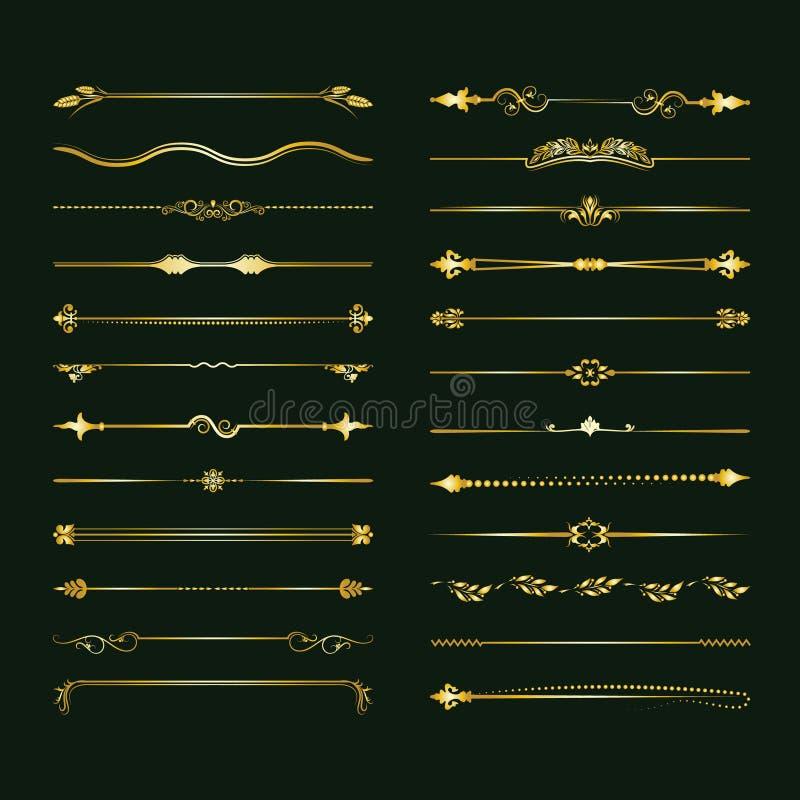 Colección de divisores del vector Puede ser utilizado para el diseño, letras, joyería, regalos, cuadernos libre illustration