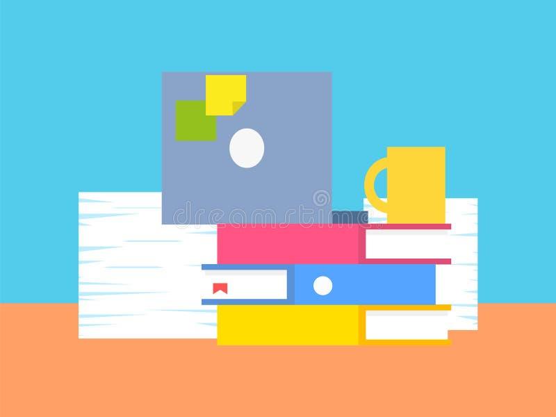 Colección de ejemplo del vector de la materia de la oficina ilustración del vector
