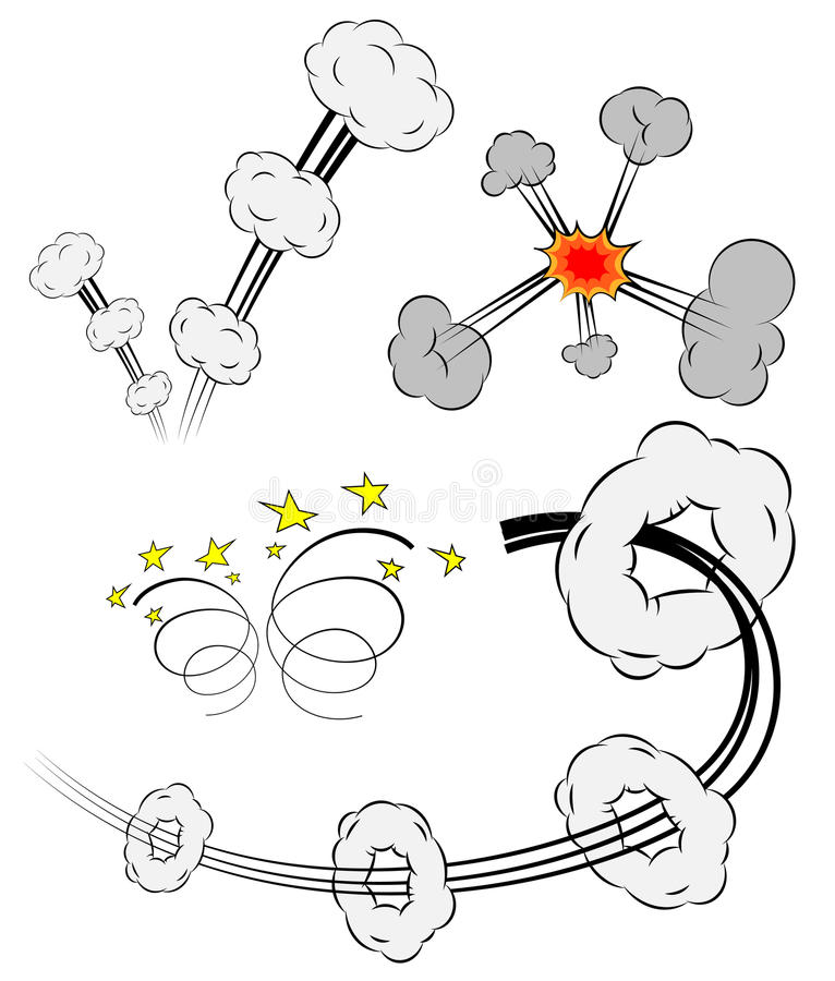 Colección de elementos cómicos del diseño del vector libre illustration