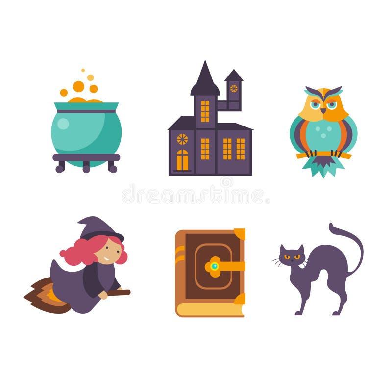 Colección de elementos del cuento de hadas del vector, iconos libre illustration