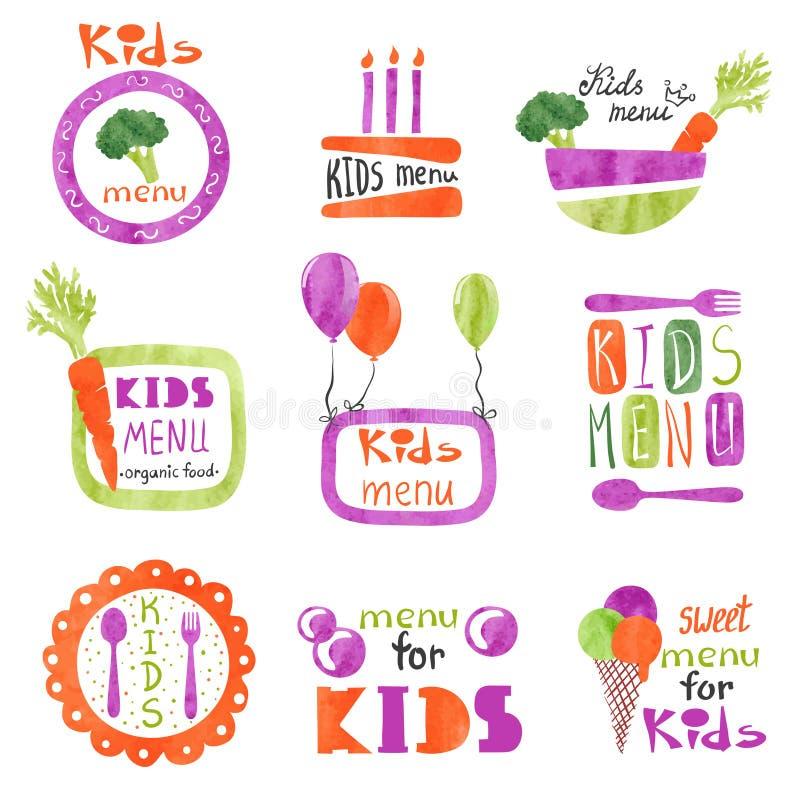 Colección de emblemas del menú del vector stock de ilustración