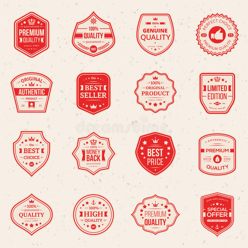 Colección de escrituras de la etiqueta superiores y de alta calidad stock de ilustración