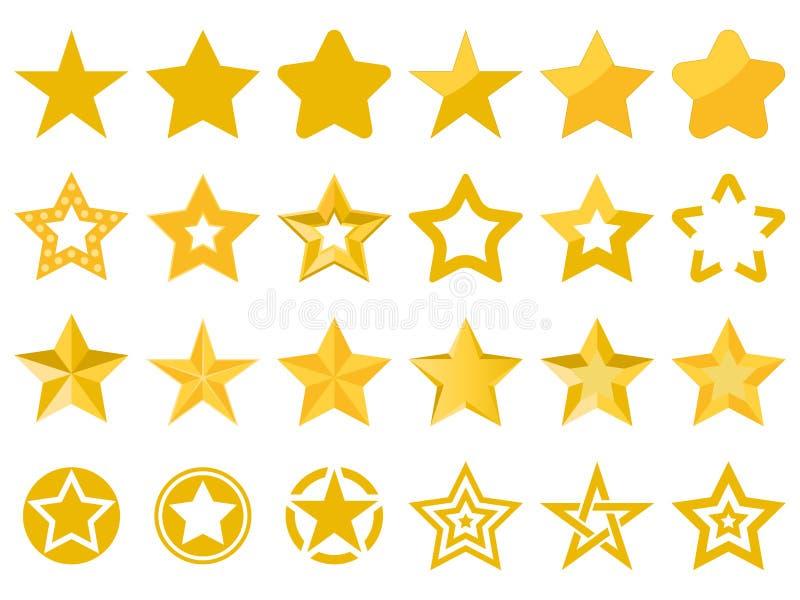 Colección de estrellas del vector stock de ilustración