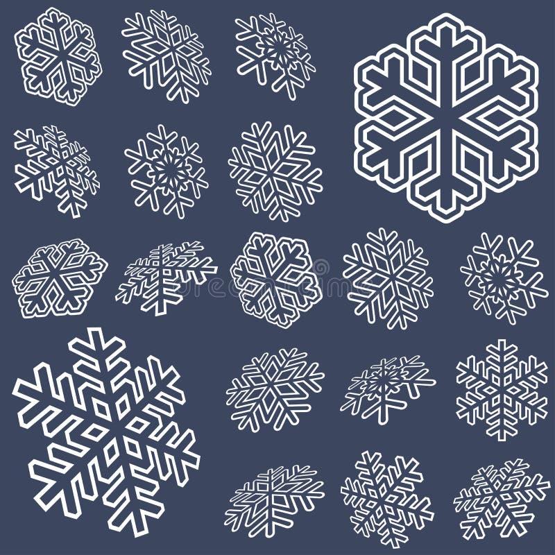 colección de estrellas de la nieve ilustración del vector