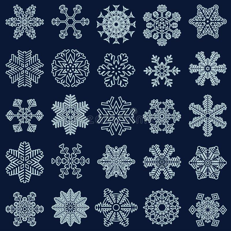 colección de estrellas de la nieve libre illustration