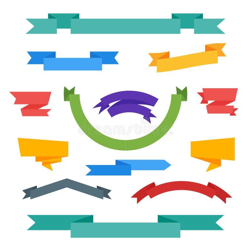 Colección de etiqueta de la cinta del vector stock de ilustración