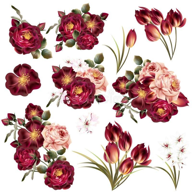 Download Colección De Flores En Colores Pastel Realistas Ilustración del Vector - Ilustración de arte, case: 64207478