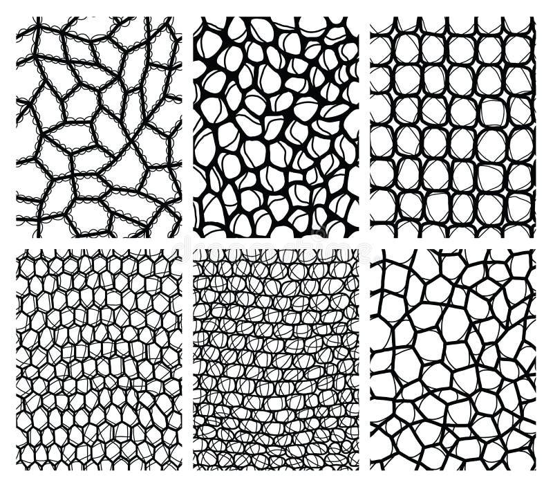Colección de fondos inconsútiles del cordón libre illustration
