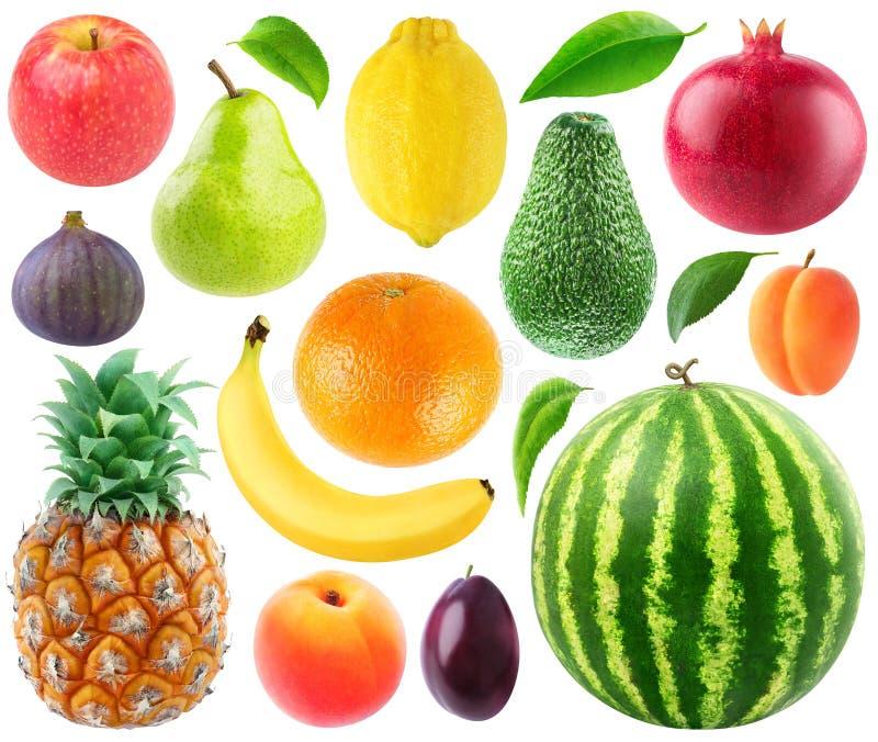 Colección de frutas frescas foto de archivo libre de regalías