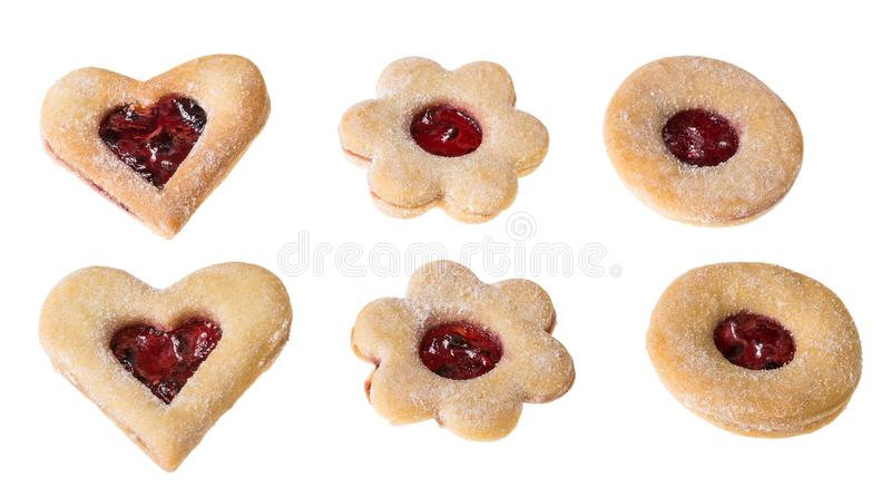 Colección de galletas tradicionales de la Navidad imagenes de archivo