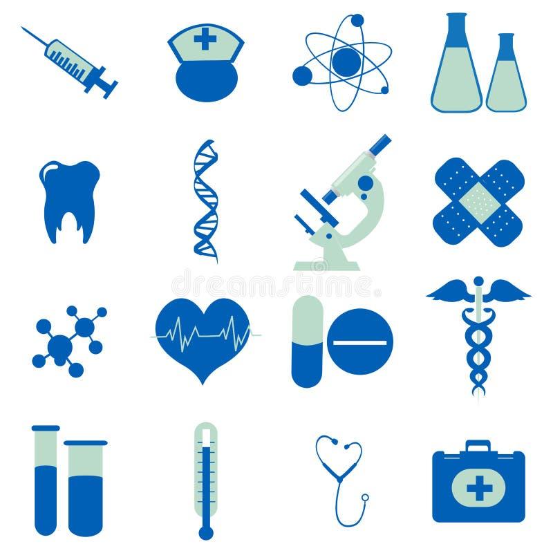 Colección de iconos médicos ilustración del vector