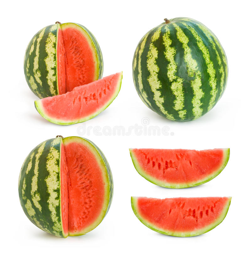 Colección de imágenes del melón de agua imagen de archivo libre de regalías