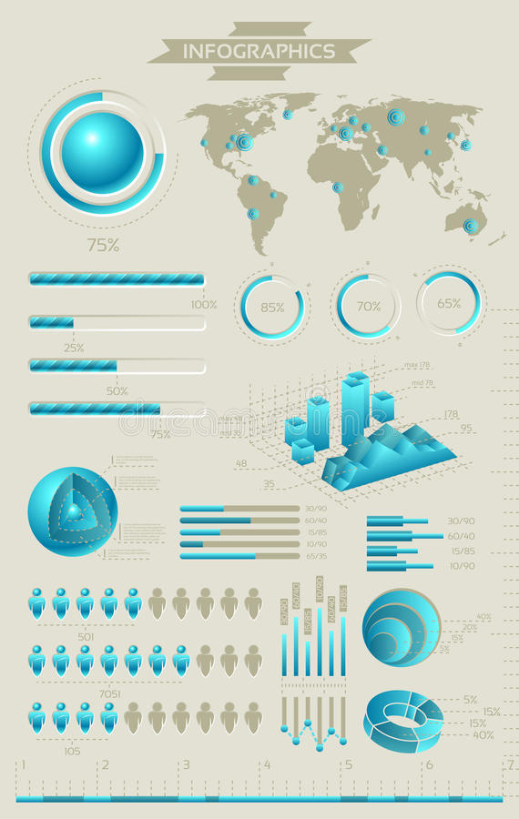 Colección de Infographic stock de ilustración