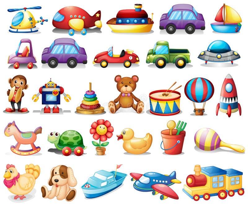 Colección de juguetes stock de ilustración