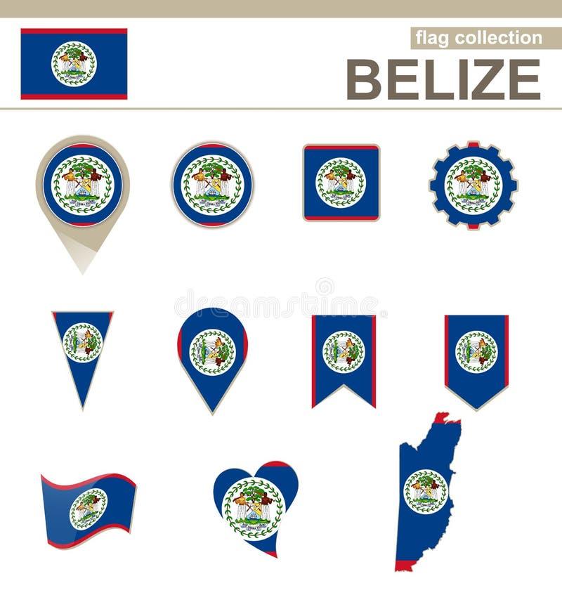 Colección de la bandera de Belice ilustración del vector