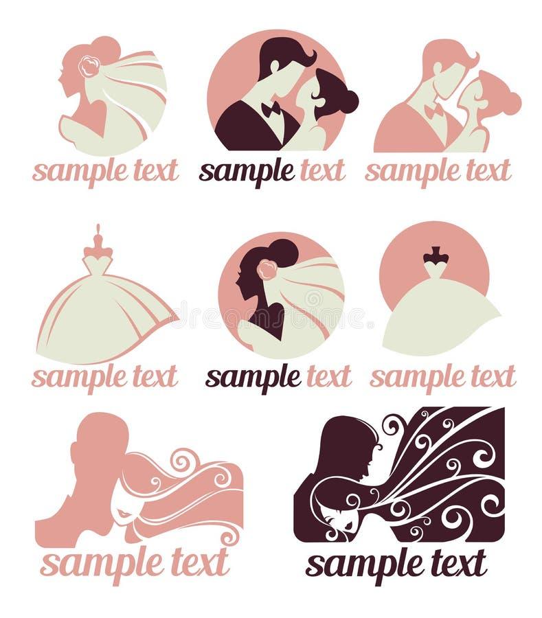 Colección de la boda stock de ilustración