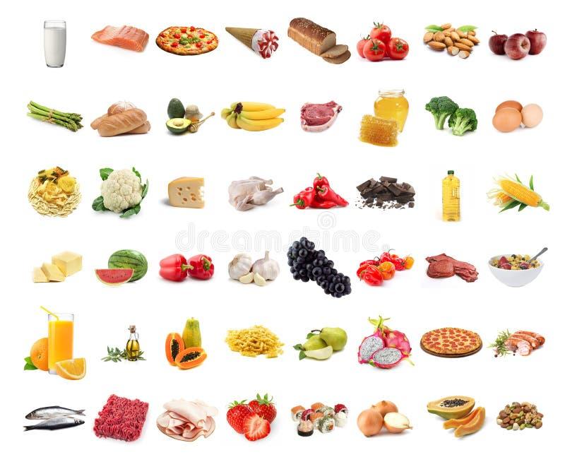 Colección de la comida imagen de archivo