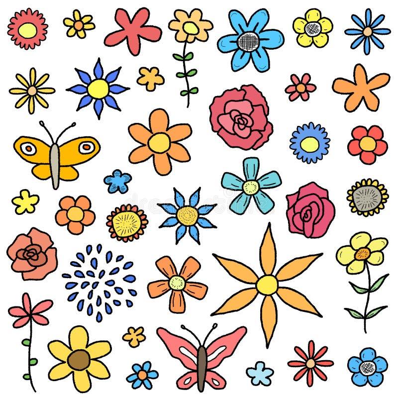 Colección de la flor stock de ilustración
