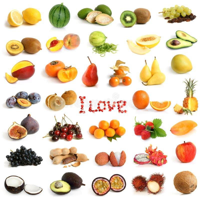 Colección de la fruta fotografía de archivo