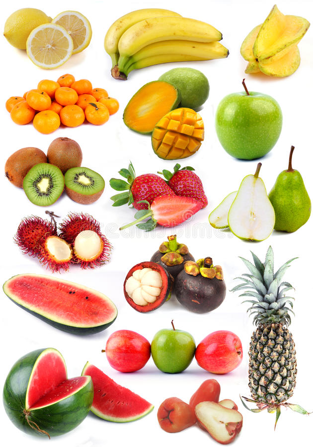 Colección de la fruta foto de archivo