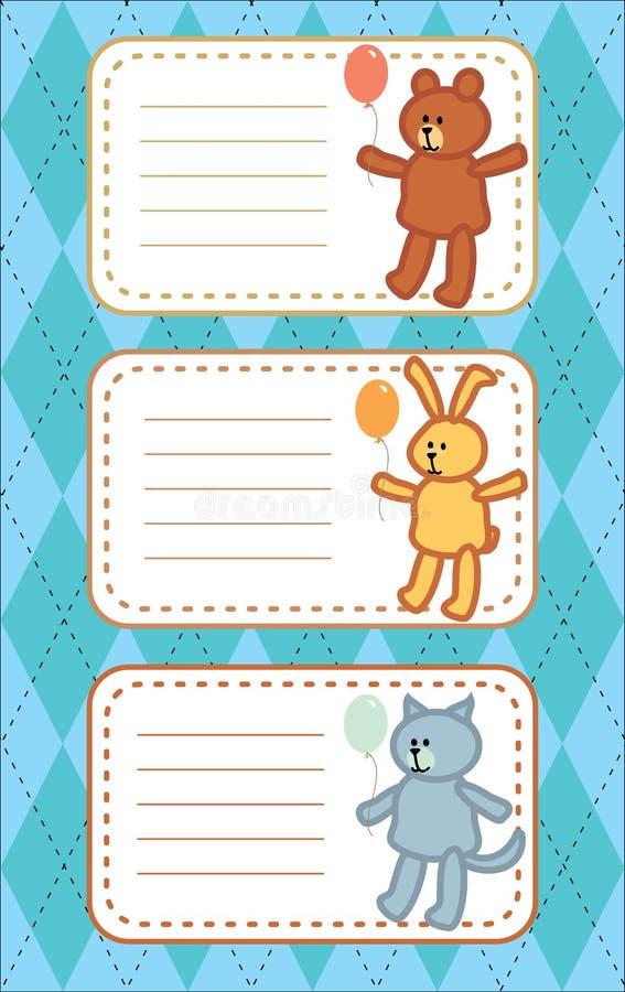 Colección de la insignia del niño stock de ilustración