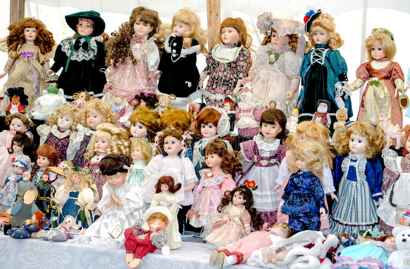 Colección de la muñeca imágenes de archivo libres de regalías