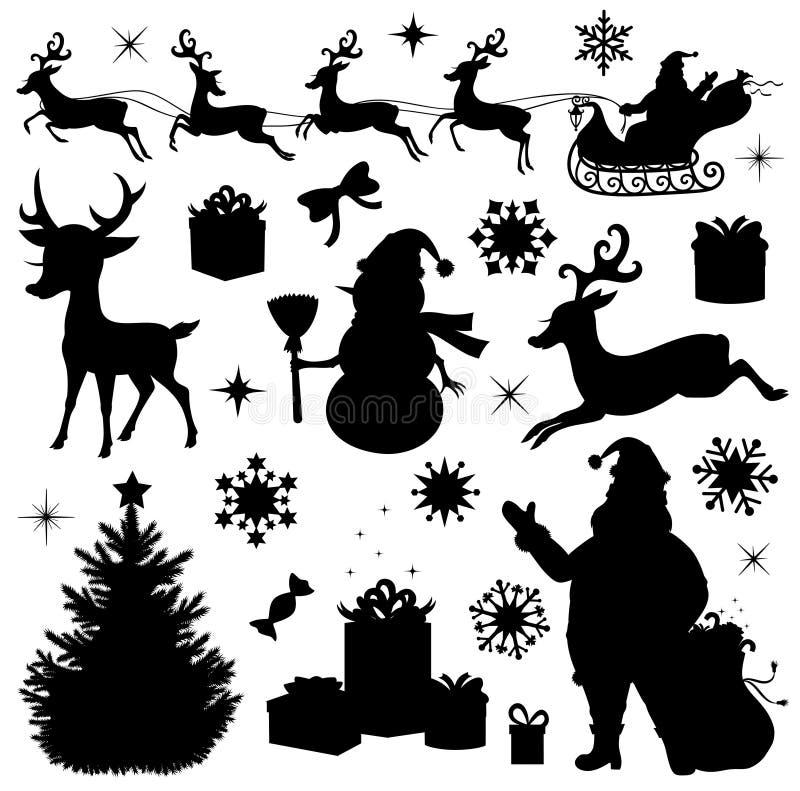 Colección de la Navidad. ilustración del vector