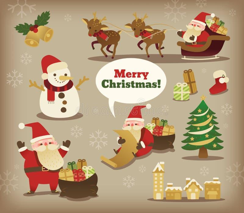 Colección de la Navidad Santa Claus stock de ilustración