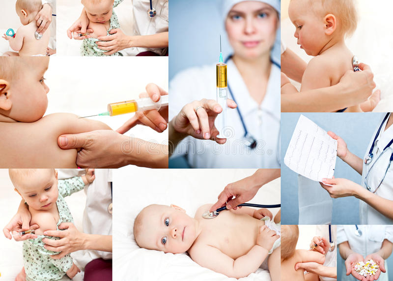 Colección de la pediatría imagenes de archivo