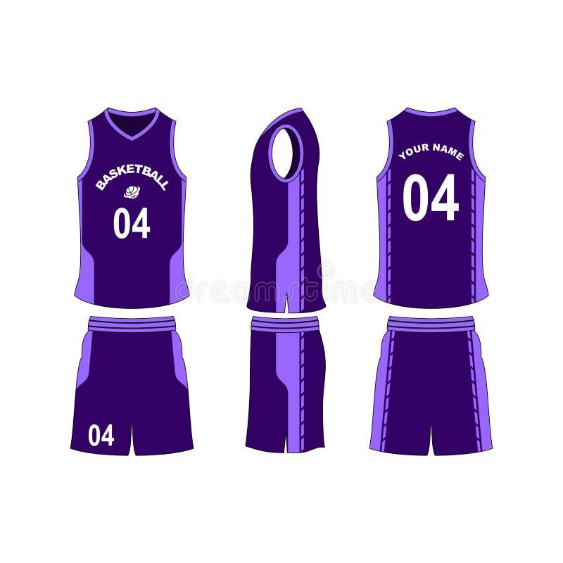 Colección de la plantilla del sistema del jersey del baloncesto imagenes de archivo