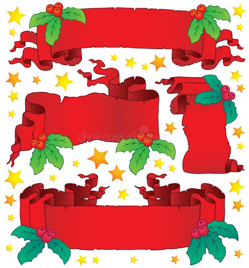 Colección 6 de las banderas de la Navidad libre illustration