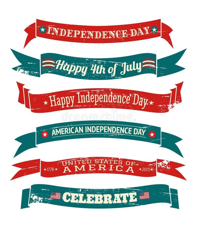Colección de las banderas del Día de la Independencia libre illustration