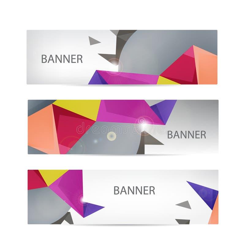 Colección de las banderas del vector con el extracto stock de ilustración