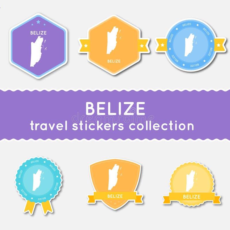 Colección de las etiquetas engomadas del viaje de Belice libre illustration