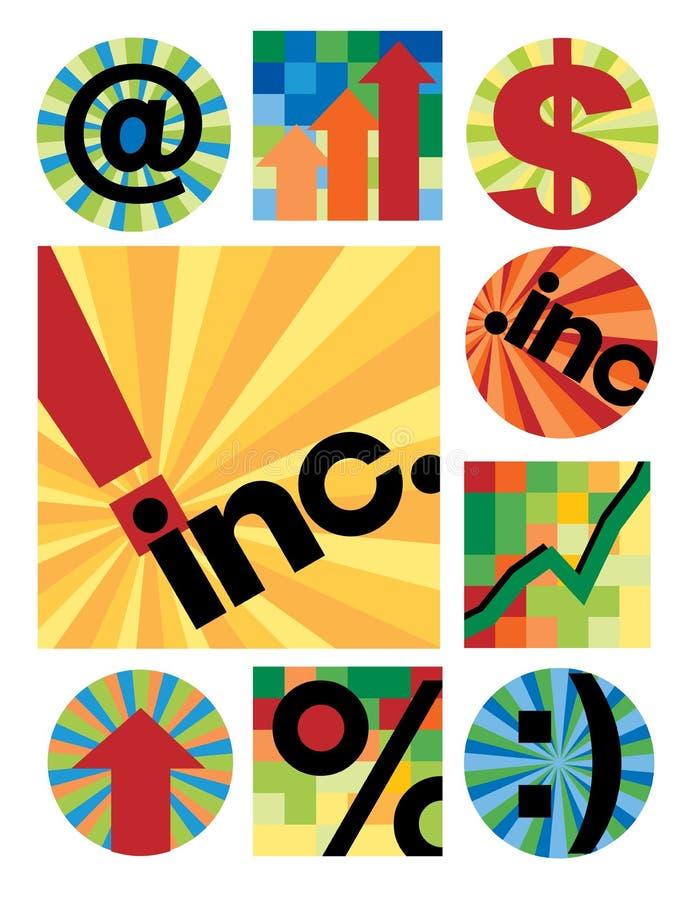 Colección de las insignias del asunto libre illustration