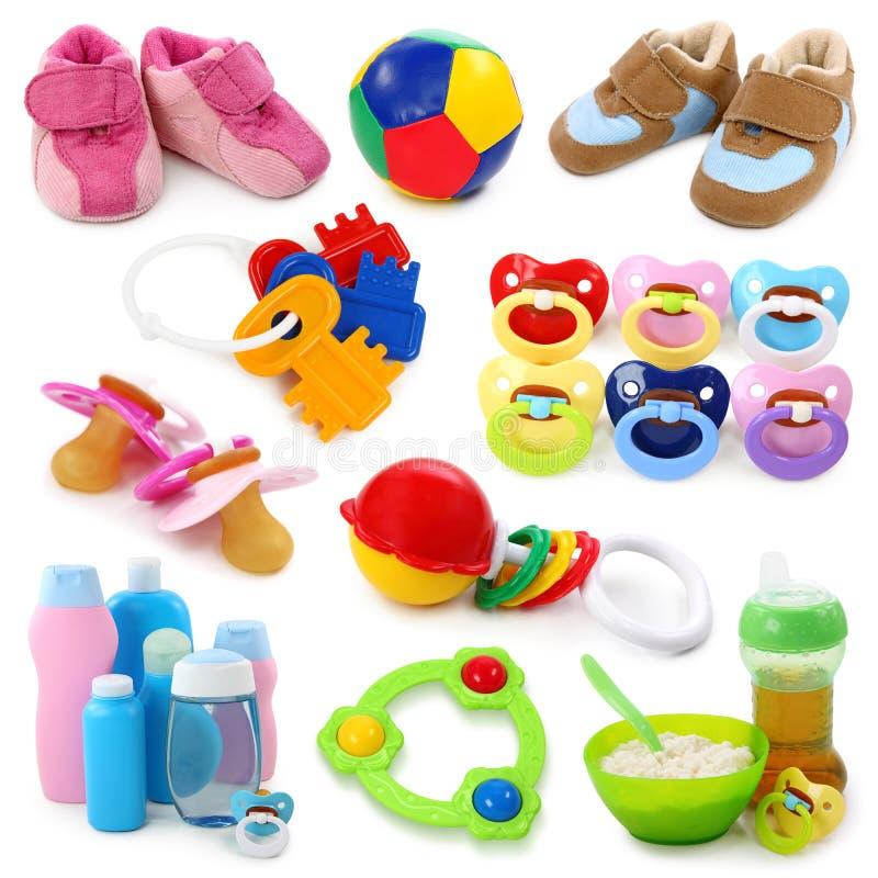 Colección de las mercancías del bebé imagen de archivo libre de regalías