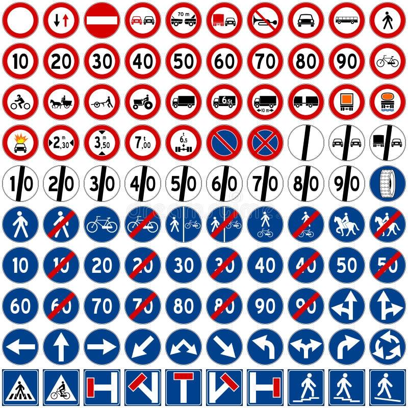 Colección de las señales de tráfico [2] stock de ilustración