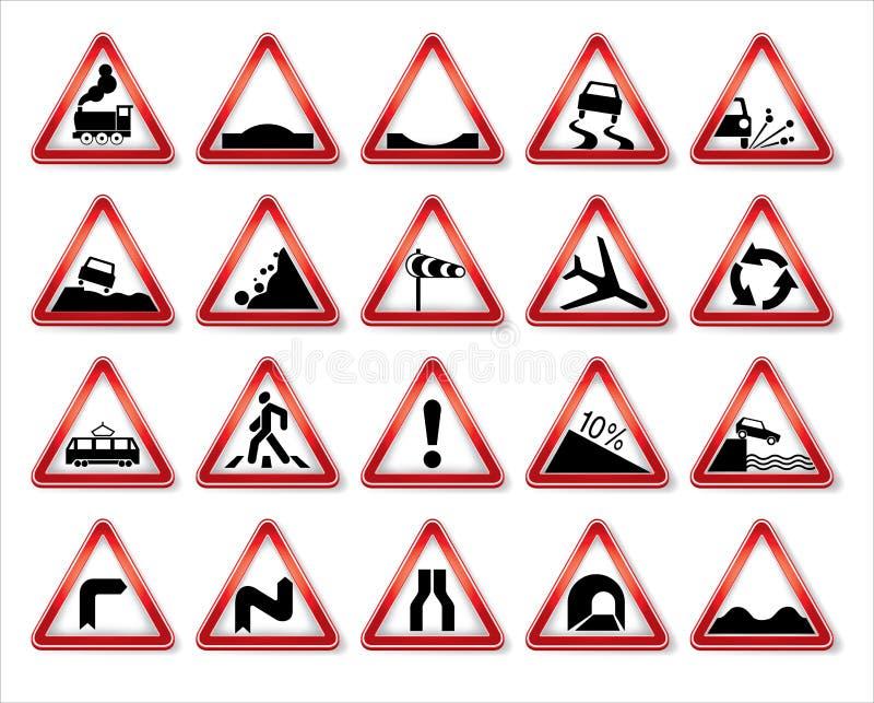 Colección de las señales de tráfico del vector stock de ilustración