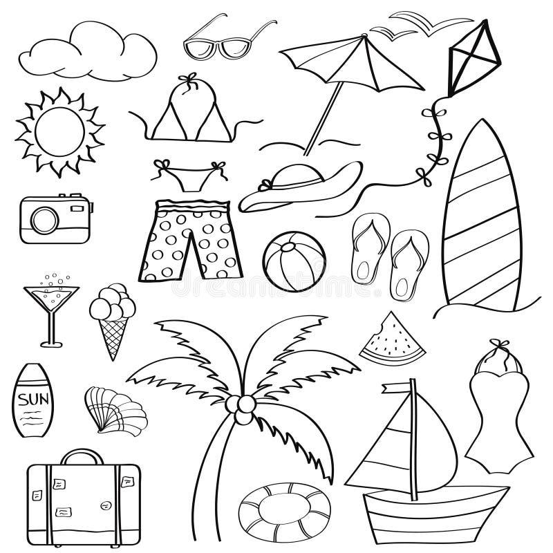 Coleccion De Las Vacaciones De Verano De Los Articulos De La